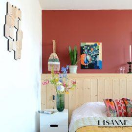 Wandtegels van duurzaam hout