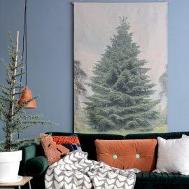 XL kerstboom voor aan de muur
