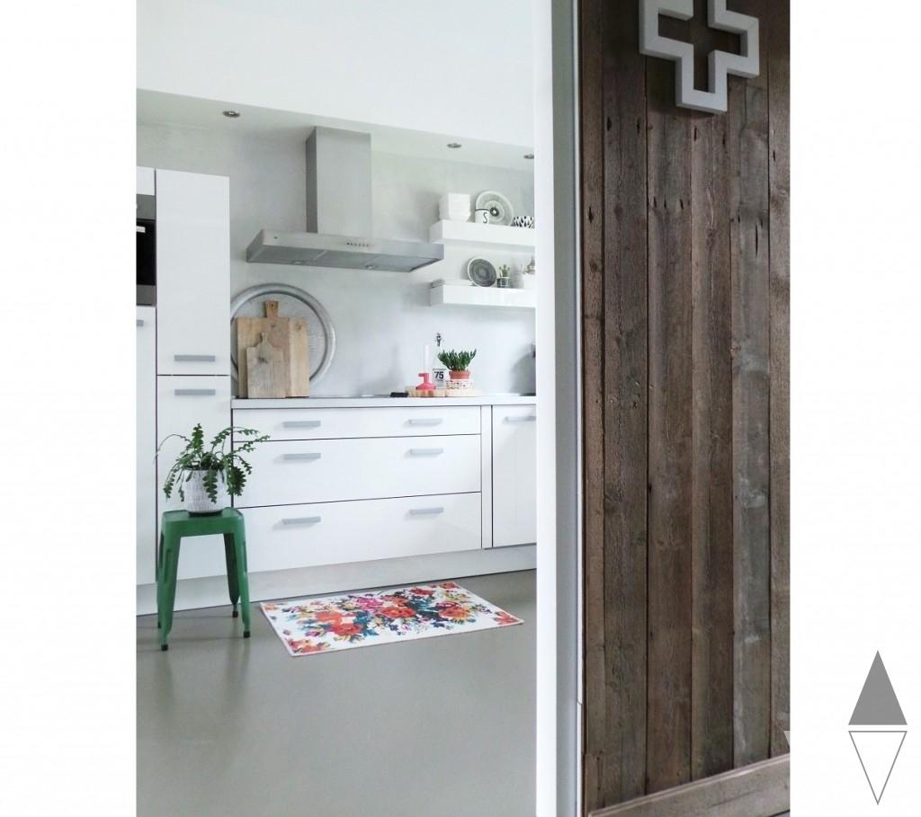 Rozenkelim badmat keuken styling en fotografie door Lisanne van de Klift